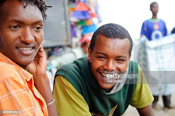 Ethiopian young men in Addis Ababa