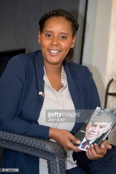 Ethiopianborn Pnina TamanoShata poses for an AFP Photographer at her home in the Israeli city of Petah Tikva near Tel Aviv on October 28 2016...