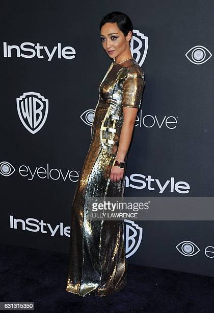 EthiopianIrish actress Ruth Negga arrives to attend the 2017 InStyle And Warner Bros 74th Annual Golden Globe after party in Beverly Hills California...