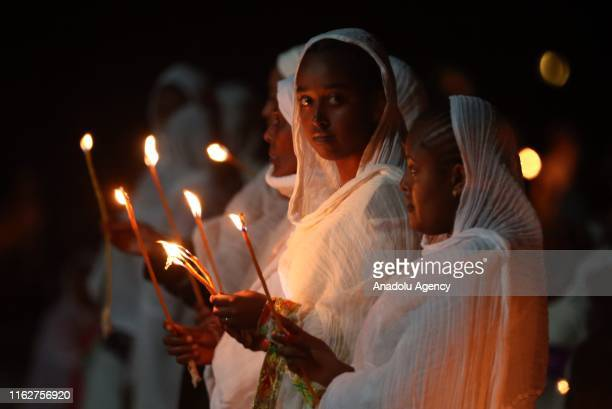 Ethiopians attend a religious ceremony at Medehanialem Church as part of the Buhe Holiday in Addis Ababa Ethiopia on August 19 2019 Buhe Holiday a...