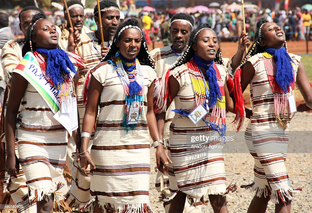 Ethiopians celebrate the 9th Nations, Nationalities and People's Day at Asosa stadium in the western city of Assosa, capital of Benishangul-Gumuz State on December 8, 2014. Ethiopians turned the anniversary into a national event nine years ago, dubbing it 'Nations' and Nationalities Day,' during which they celebrate the country's unity and its cultural, religious, linguistic and ethnic diversity.