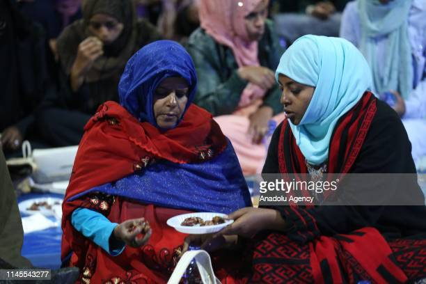 Ethiopians gather for fastbreaking with the attendance of Ethiopian Prime Minister Abiy Ahmed at the Millennium Hall in Addis Ababa Ethiopia on May...