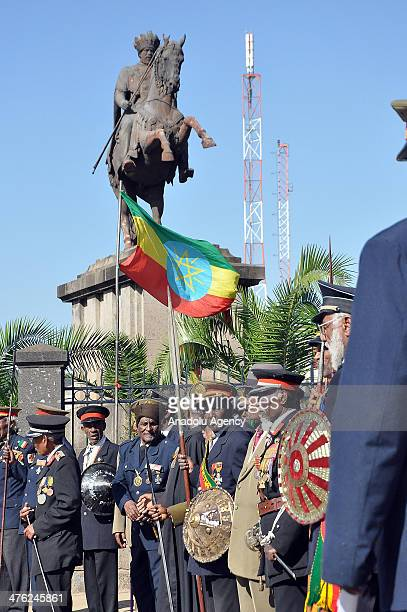 Ethiopians gathered in Addis Ababa on March 2 2014 celebrate the 118th anniversary of Ethiopia's victory over Italy at the Battle of Adwa in Ethiopia...
