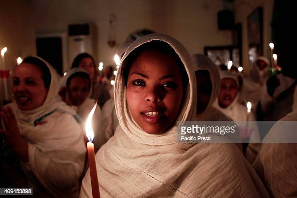 Ethiopians living in Athens celebrate the Resurrection during a liturgy on Holy Saturday.