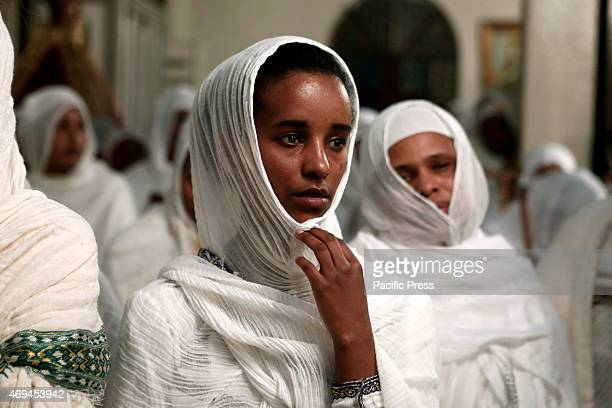 Ethiopians living in Athens celebrate the Resurrection during a liturgy on Holy Saturday