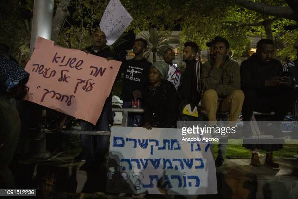 Ethiopians living in Israel block the Ayalon Highway as they stage a protest against police's violence towards them after 24yearold Ethiopian Yehuda...