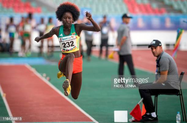 TOPSHOT Ethiopia's Ajuda Oumde Ochan competes in the Women's Triple Jump Final at the 12th edition of the African Games on August 26 2019 in Rabat