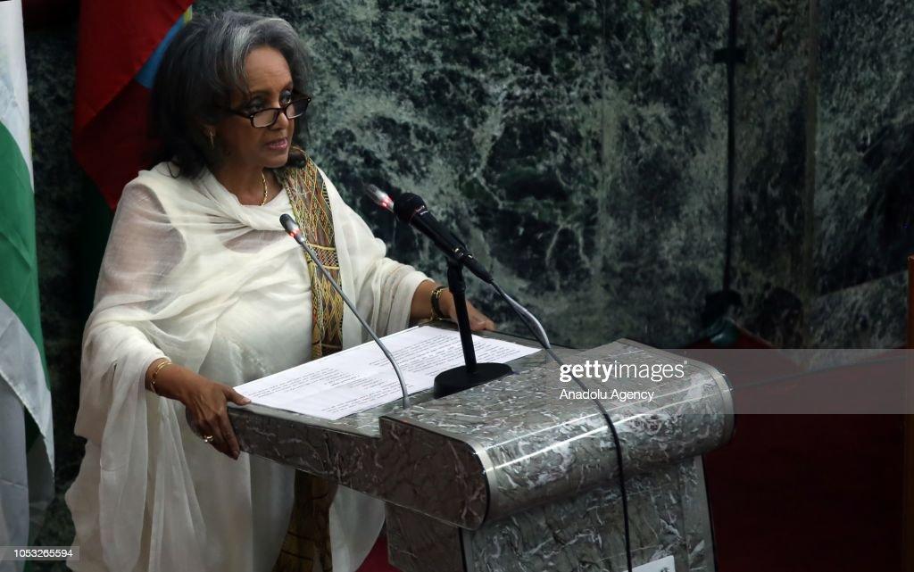 Sahle-Work Zewde becomes Ethiopia's first female president : ニュース写真