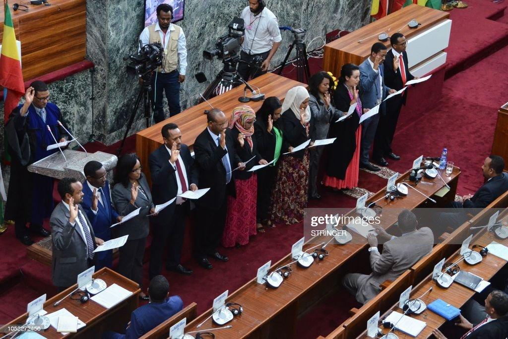ETHIOPIA-POLITICS-GOVERNMENT-GENDER : News Photo