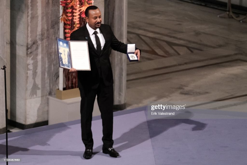 Nobel Peace Prize Award Ceremony 2019 : News Photo