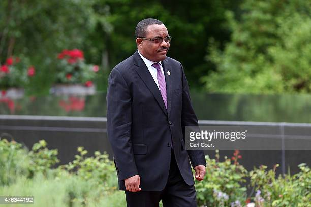 Ethiopia's Prime Minister Hailemariam Desalegn arrives to attend a working session with outreach guests at the summit of G7 nations at Schloss Elmau...