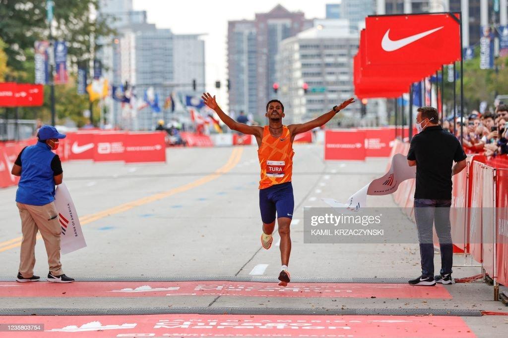 US-MARATHON-CHICAGO-athletics : News Photo