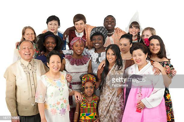 ethnic clothing - culturen stockfoto's en -beelden