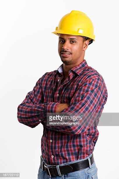 étnico trabalhador de construção - dureza - fotografias e filmes do acervo
