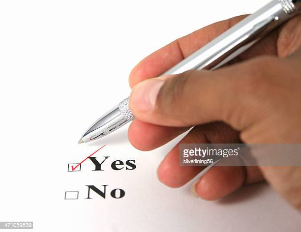 Ethnic hand voting yes