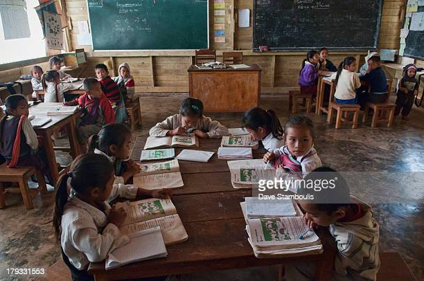 CONTENT] ethnic Khmu classroom in a rural village Luang Nam Tha Laos