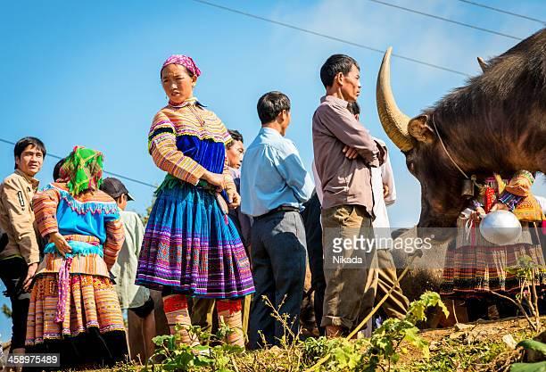 Ethnic Minority People at market, Vietnam