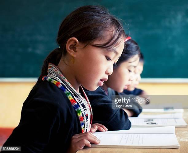 ethnic minority school in sapa, vietnam - hugh sitton stock pictures, royalty-free photos & images