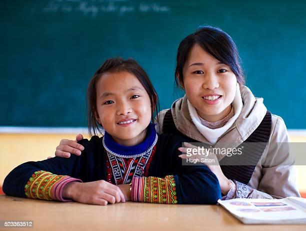 ethnic minority school in sapa, vietnam - hugh sitton stock-fotos und bilder