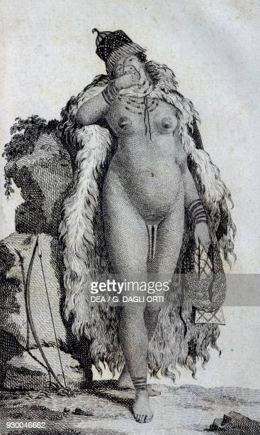 Ethnic woman Khoikhoi from Travels of Le Vaillant into the interior parts of Africa by way of the Cape of Good Hope in the years 1783 1784 and 1785...