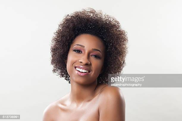 Ethnic woman with an afro