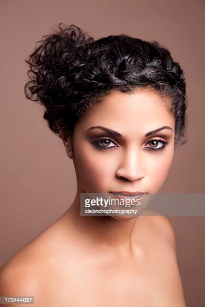 Ethnic woman with curly hair