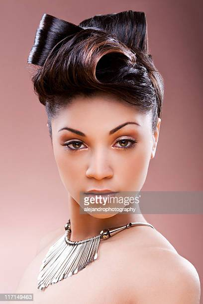Ethnic woman with updo