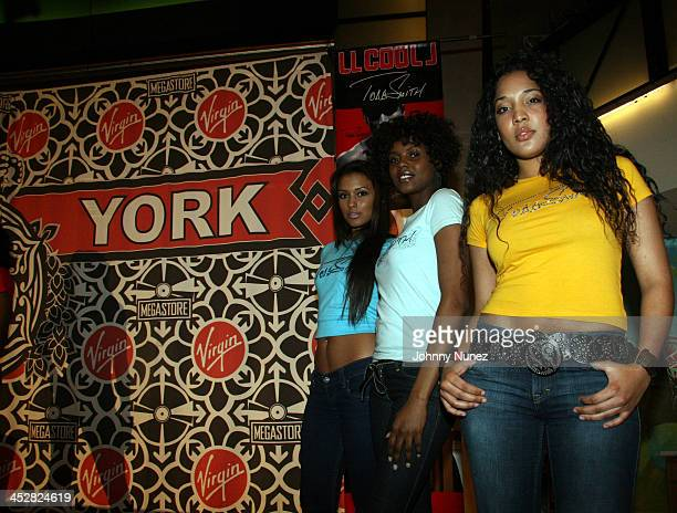 Ethnicity Models during LL Cool J Signs His Album Todd Smith at Virgin Megastore in New York City April 11 2006 at Virgin Megastore Time Square NYC...