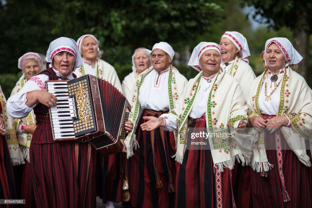 Ethnographic ensemble of Baltinava : Stock Photo