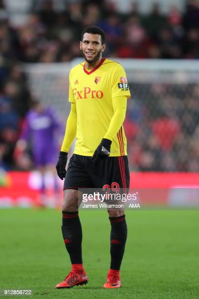 Etienne Capoue of Watford during the Premier League match between Stoke City and Watford at Bet365 Stadium on January 31 2018 in Stoke on Trent...