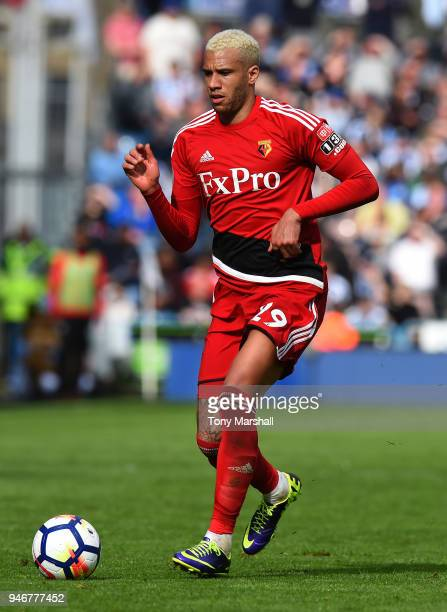 Etienne Capoue of Watford during the Premier League match between Huddersfield Town and Watford at John Smith's Stadium on April 14 2018 in...