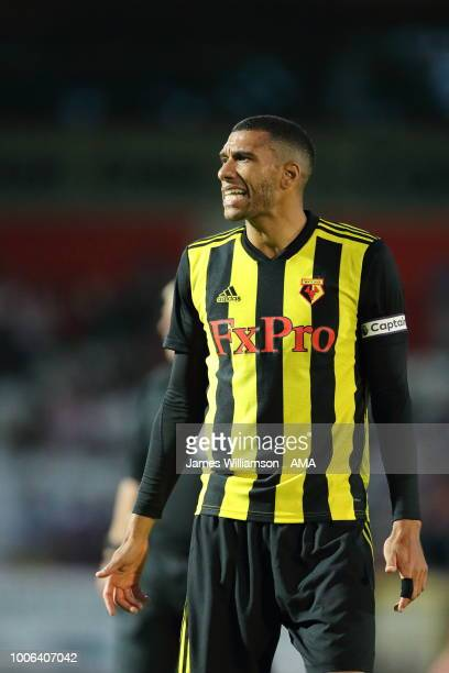 Etienne Capoue of Watford during the PreSeason Friendly between Stevenage v Watford at The Lamex Stadium on July 27 2018 in Stevenage England