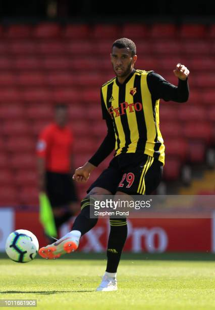 Etienne Capoue of Watford during the preseason friendly match between Watford and Sampdoria at Vicarage Road on August 4 2018 in Watford England