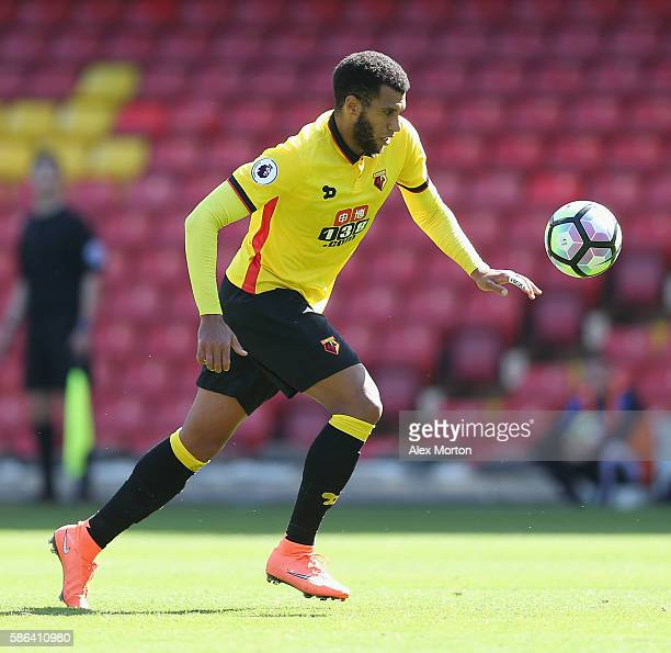 Etienne Capoue of Watford during the preseason friendly match between Watford and Lorient at Vicarage Road on August 6 2016 in Watford England
