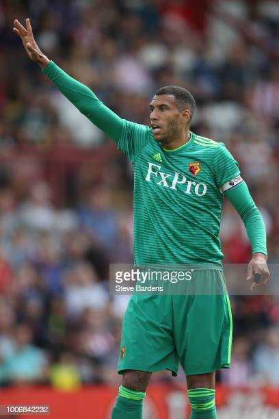 Etienne Capoue of Watford during the preseason match between Brentford and Watford at Griffin Park on July 28 2018 in Brentford England