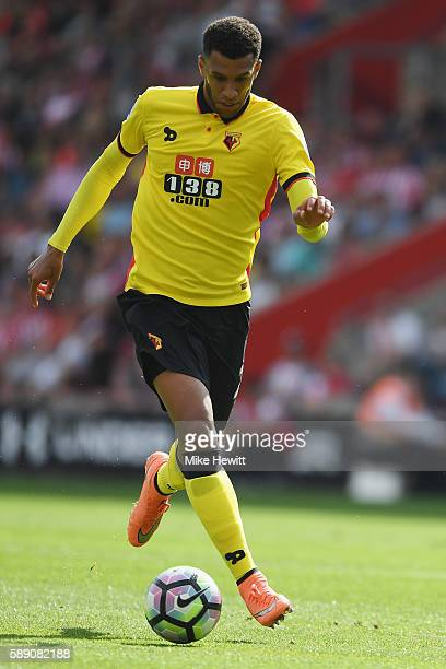 Etienne Capoue of Watford in action during the Premier League match between Southampton and Watford at St Mary's Stadium on August 13 2016 in...