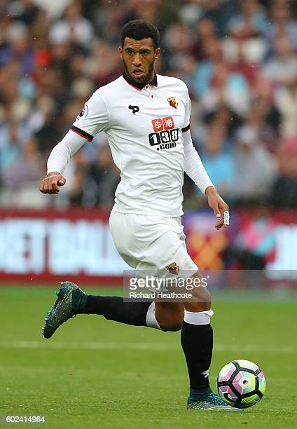 Etienne Capoue of Watford in action during the Premier League match between West Ham United and Watford at the Olympic Stadium on September 10 2016...