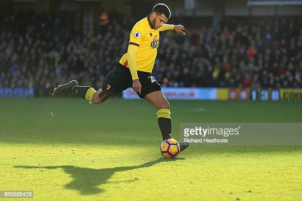 Etienne Capoue of Watford in action during the Premier League match between Watford and Crystal Palace at Vicarage Road on December 26 2016 in...