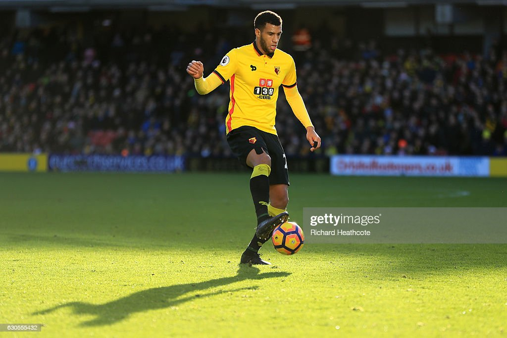 Etienne Capoue of Watford in action during the Premier League match between Watford and Crystal Palace at Vicarage Road on December 26, 2016 in Watford, England.