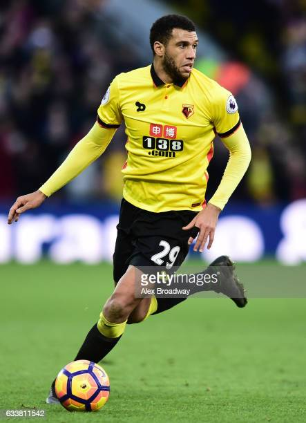 Etienne Capoue of Watford in action during the Premier League match between Watford and Burnley at Vicarage Road on February 4 2017 in Watford England