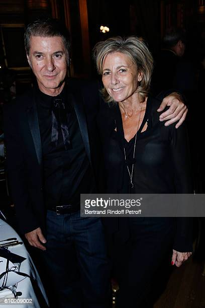 Etienne Daho and Claire Chazal attend the Opening Season Gala at Opera Garnier on September 24 2016 in Paris France