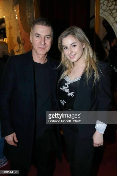 Etienne Daho and Darina ScottiVartan attend Sylvie Vartan performs at Le Grand Rex on March 16 2018 in Paris France