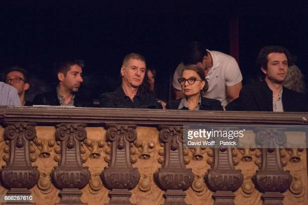 Etienne Daho and Elli Medeiros attends Calypso Valois Show at Le Trianon on April 8 2017 in Paris France