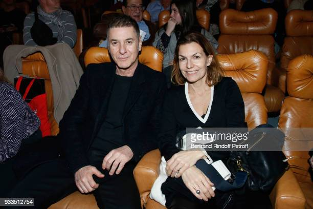 Etienne Daho and guest attend Sylvie Vartan performs at Le Grand Rex on March 16 2018 in Paris France