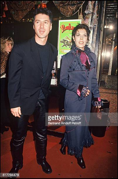 Etienne Daho and the singer Dani Bettina Graziani organises a party at Regine 1993
