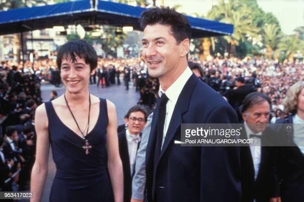 Etienne Daho et Anne Brochet à la soirée Twin Peaks au Festival de Cannes en mai 1992France