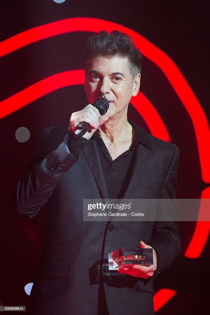 Etienne Daho is awarded with 'Grand Prix de la chanson française, createur-interprete' during the SACEM (Societe des auteurs, compositeurs et editeurs de musique) Grand Prix awards ceremony at the Olympia, in Paris.