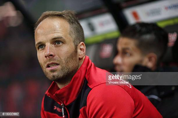 Etienne Didot of Guingamp during the Ligue 1 match between EA Guingamp and Lille OCS at Stade du Roudourou on October 15, 2016 in Guingamp, France.
