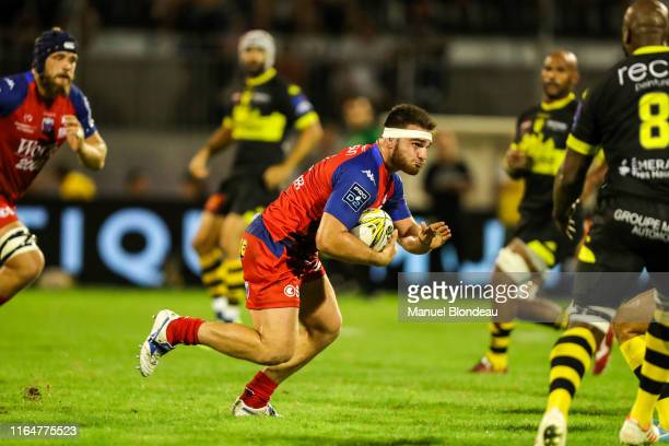 Etienne Fourcade of Grenoble during the Pro D2 match between Carcassonne and Grenoble on August 29 2019 in Carcassonne France