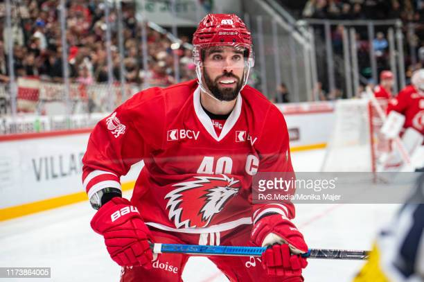 Etienne Froidevaux of Lausanne HC looks on during the Swiss National League game between Lausanne HC and HC AmbriPiotta at Vaudoise Arena on October...